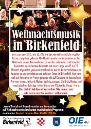 Musikalischer Weihnachtskalender - Weihnachtsmusik in Birkenfeld